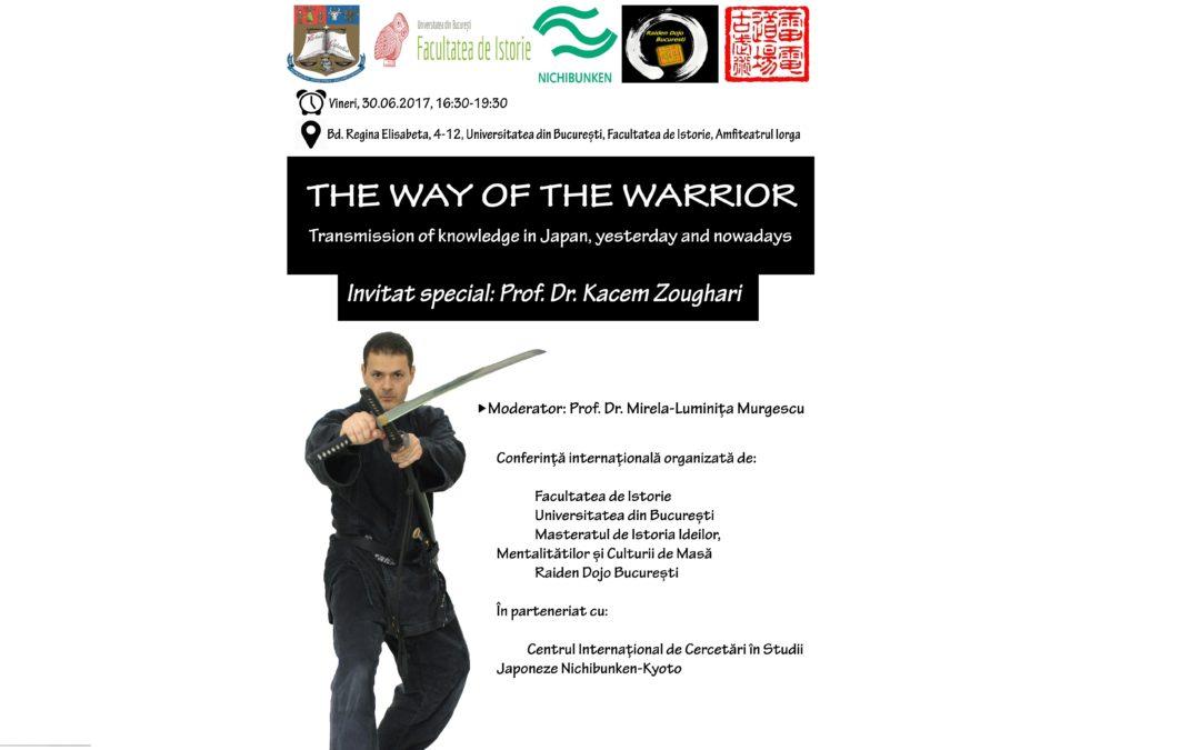 Dr. Kacem Zoughari, specialist în istoria și civilizația japoneză și expert în arte marțiale, la Universitatea din București