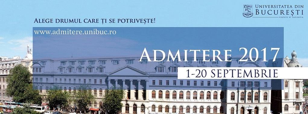 Începe sesiunea de toamnă a admiterii 2017 la Universitatea din București