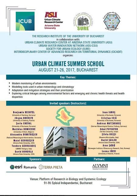 """Schimbările climatice din zonele urbane și efectele lor,  dezbătute în cadrul Școlii de vară """"Urban Climate"""""""