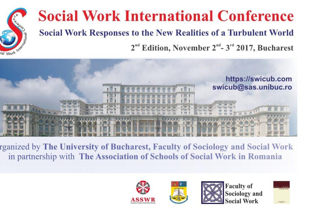 """Conferința internațională ,,Adaptarea asistenței sociale la noile realități turbulente ale lumii"""" la Universitatea din București – apel la contribuții"""
