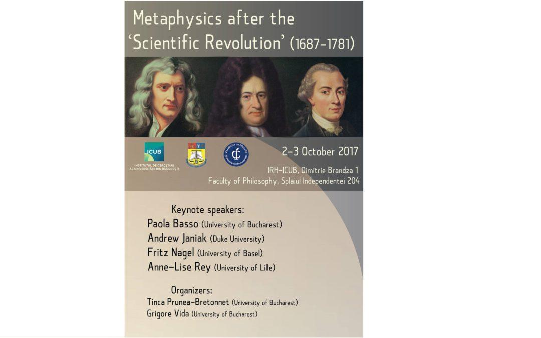 """Conferința ,,Metafizica după Revoluția Științifică (1687–1781)"""" la Universitatea din București"""