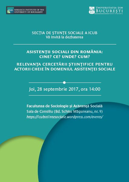 """Cercetătorii și specialiștii dezbat asupra rezultatelor cercetării """"Asistenții sociali din România: Cine? Ce? Unde? Cum?"""""""