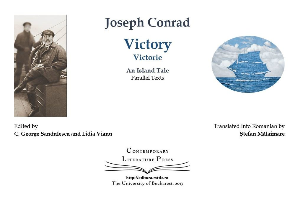 "Lansarea volumului  ""Victory"" de Joseph Conrad la Contemporary Literature Press"