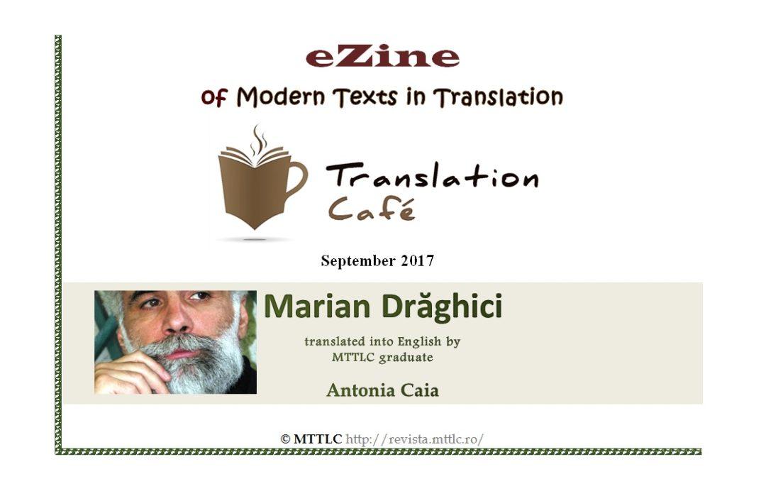Poeme de Marian Drăghici, traduse în revista Translation Café
