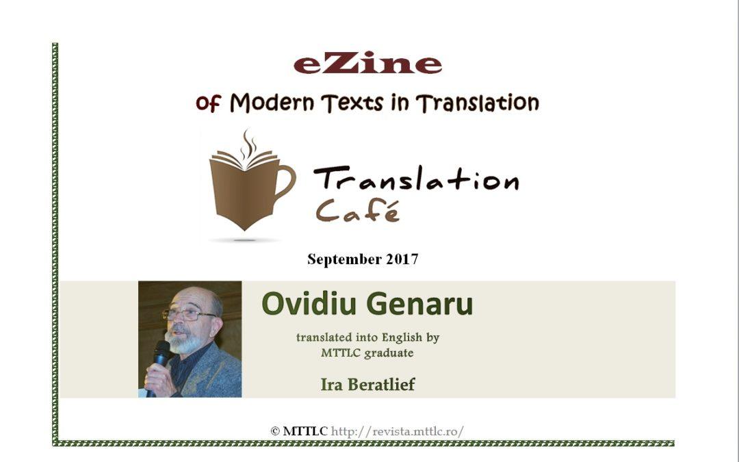 Poeme de Ovidiu Genaru, traduse în revista Translation Café