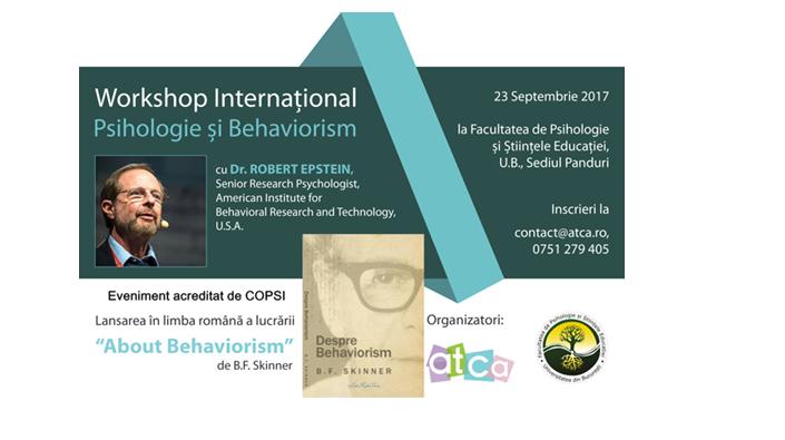 Despre behaviorism cu dr. Robert Epstein la Facultatea de Psihologie și Științele Educației