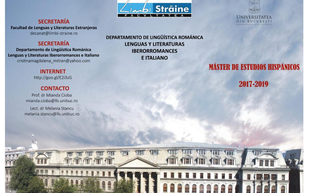 Singurul program de masterat cu predare integrală în limba spaniolă, lansat la Facultatea de Limbi și Literaturi Străine