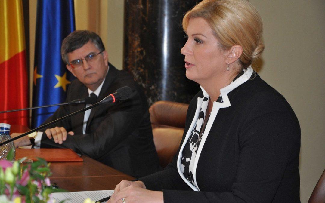 Vizita oficială a Președintelui Croației, E. S. Kolinda Grabar-Kitarović,  la Universitatea din București