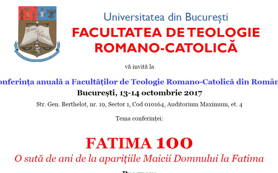 Conferința anuală a Facultăților de Teologie Romano-Catolică din România