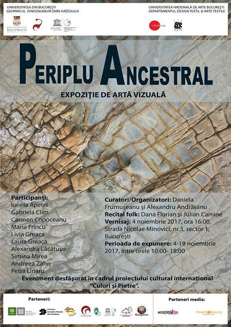 """Geoparcul, sursă de inspirație pentru expoziția """"Periplu ancestral"""""""