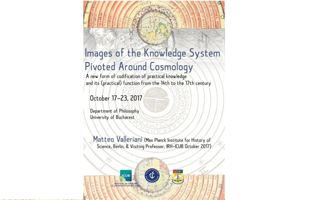 """Images of the Knowledge System Pivoted Around Cosmology"", curs susținut de Matteo Valleriani la ICUB"