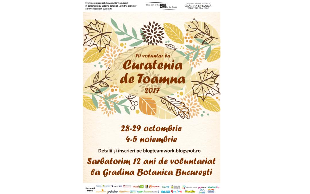 """Fii voluntar la Curăţenia de Toamnă în Grădina Botanică ,,Dimitrie Brândză"""" a Universității din București!"""