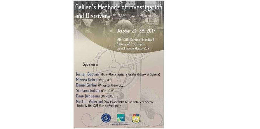 """Masterclass cu tema """"Galileo's Methods of Investigation and Discovery"""" la Secțiunea de Științe Umaniste a ICUB"""
