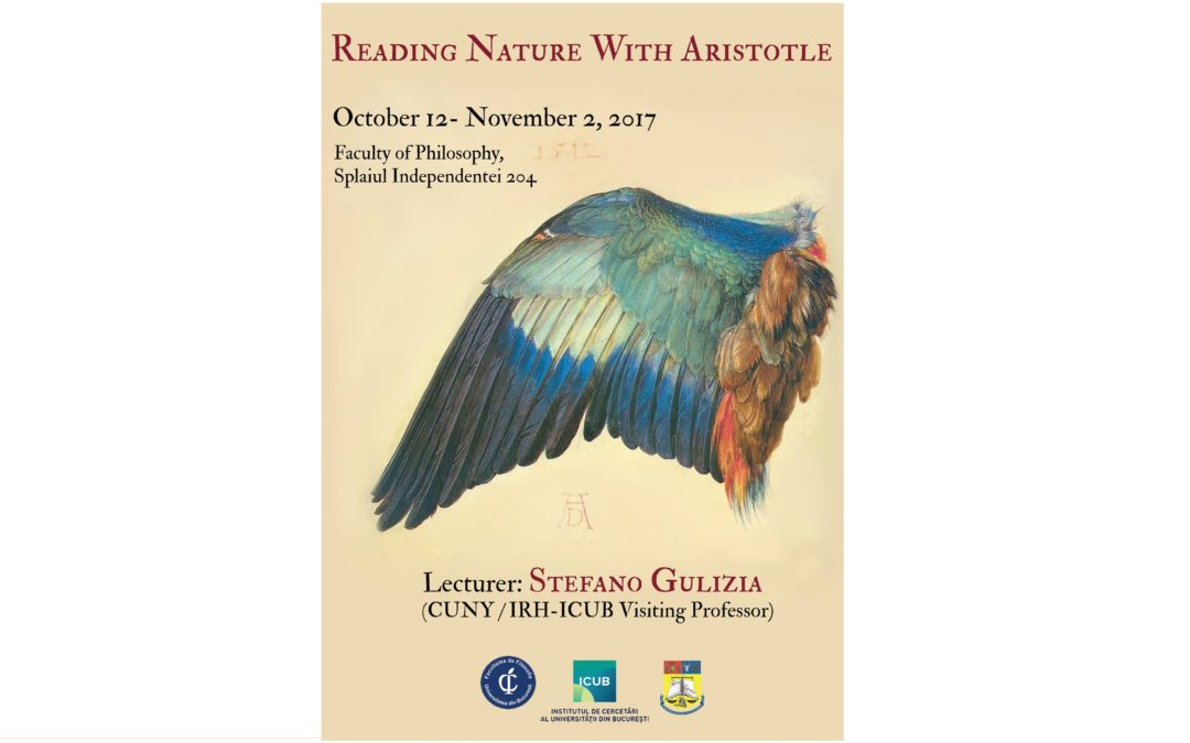 """Reading Nature with Aristotle"", curs susținut de Stefano Gulizia la Institutul de Cercetări al Universității din București"