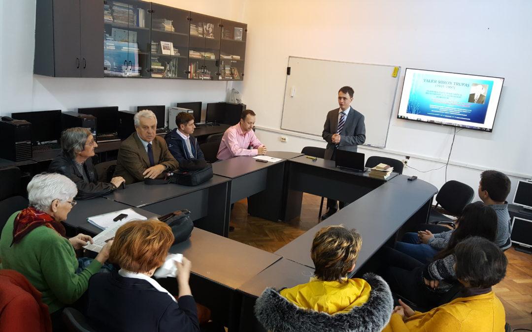 Întâlnire în memoria profesorului Valer Trufas, la Facultatea de Geografie