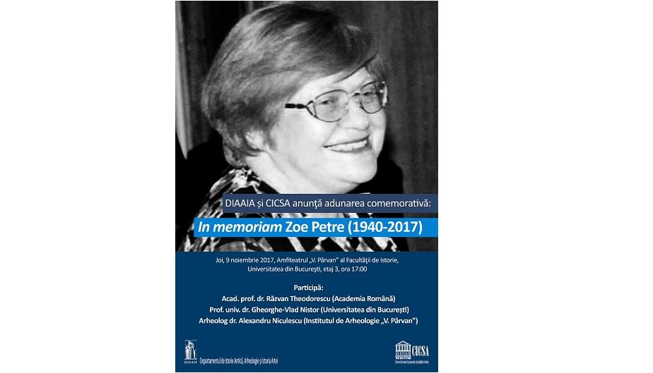"""Întâlnirea comemorativă """"In memoriam Zoe Petre"""""""