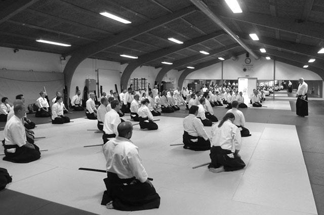 Demonstraţie de Aikido la Universitatea din București