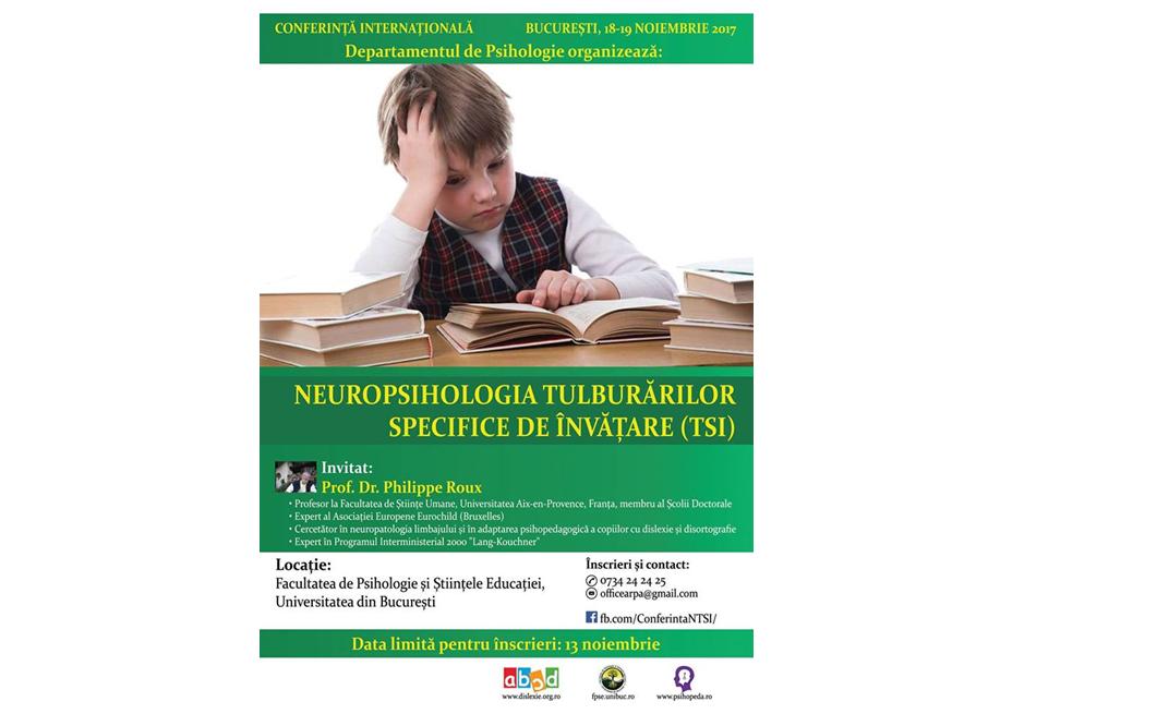Tulburările specifice de învățare, subiectul unei conferințe internaționale organizate de Facultatea de Psihologie și Științele Educației