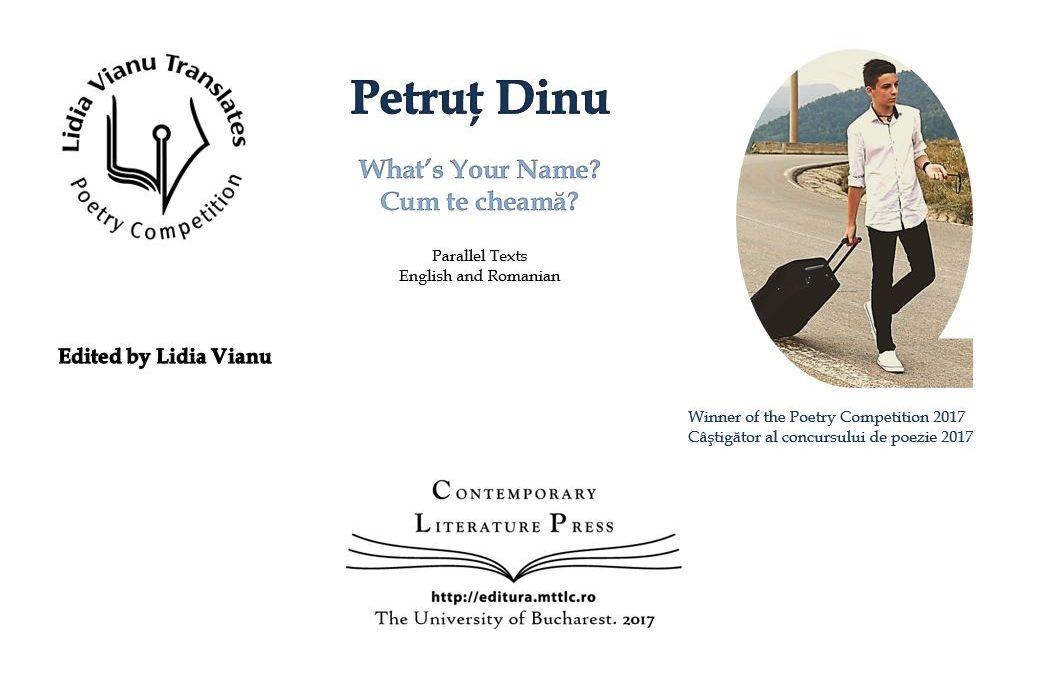 """Lansarea volumului """"Lidia Vianu Translates. Petruț Dinu. What's Your Name? Cum te cheamă?"""" la Contemporary Literature Press"""