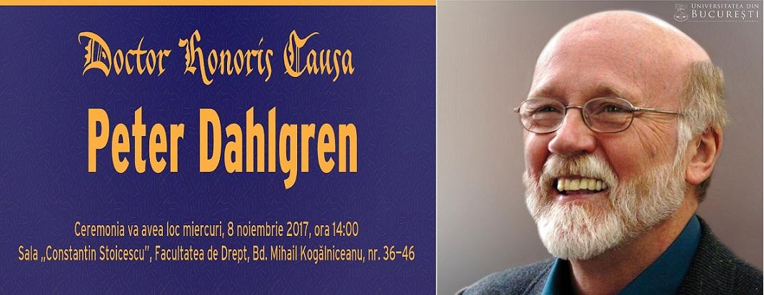 Profesorul Peter Dahlgren primește distincția de Doctor Honoris Causa al Universităţii din Bucureşti