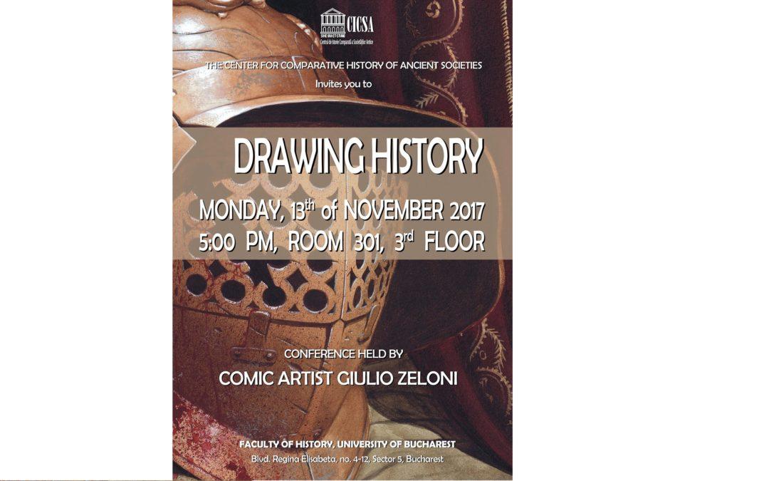 """""""Drawing History"""", subiectul unei prezentări susținute de artistul Giulio Zeloni la Facultatea de Istorie a UniBuc"""