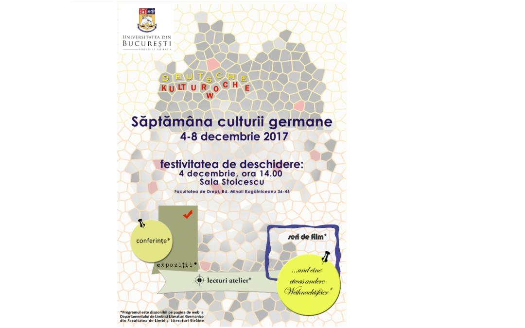 Săptămâna Culturii Germane la Universitatea din București