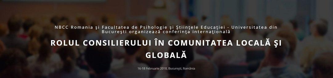 """Conferința internațională """"Rolul consilierului în comunitatea locală și globală"""""""