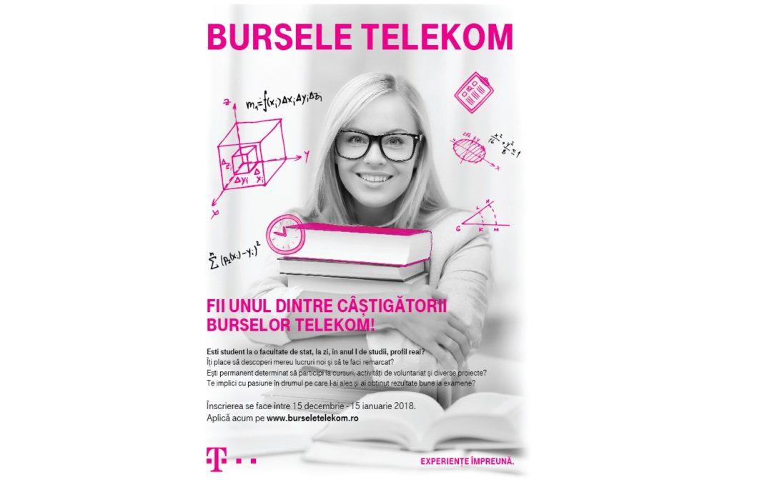"""Proiectul """"Bursele Telekom"""", ajuns la cea de-a opta ediție"""