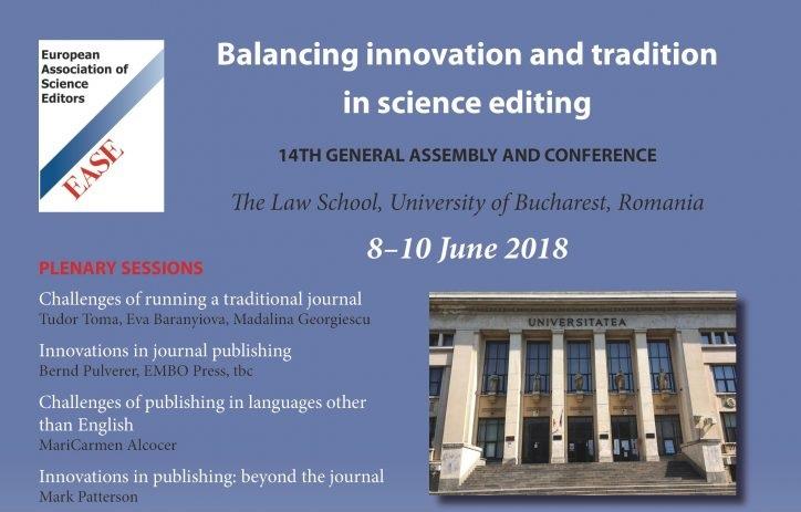 Conferința Asociației Europene a Editorilor de Știință (EASE) la Universitatea din București