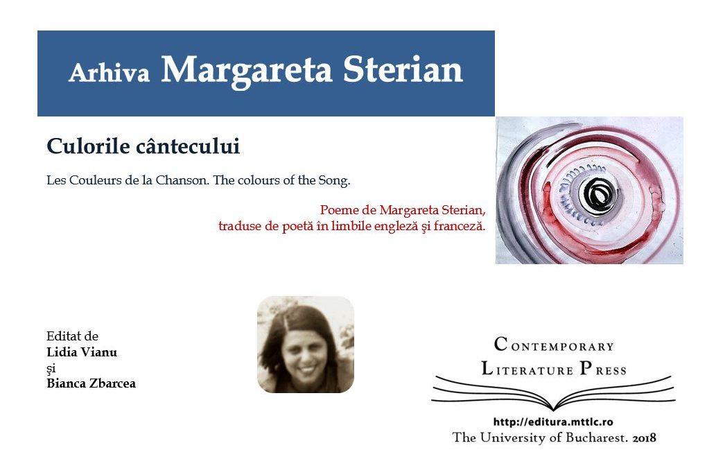 """Lansarea volumului """"Arhiva Margareta Sterian. Culorile cântecului"""" la Contemporary Literature Press"""