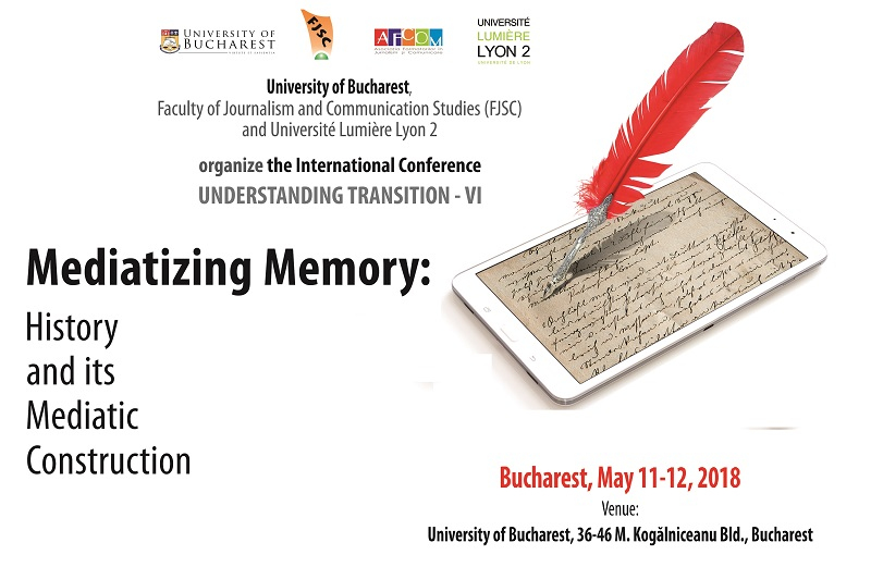 "Conferința internațională ""Mediatizing memory: History and its mediatic construction"" – apel la contribuții"