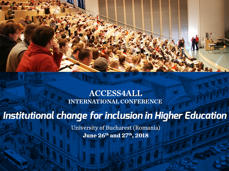 "Apel la contribuții pentru conferința internațională ""Institutional change for inclusion in Higher Education"""