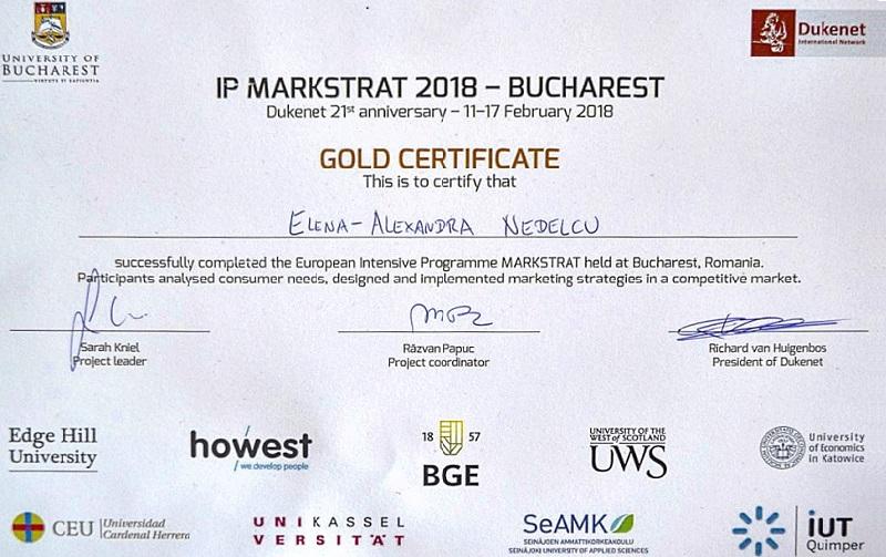 Studenţii Universităţii din Bucureşti pe podiumul celei de-a XIX-a ediții a competiţiei europene Markstrat