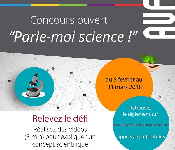 "Concursul ""Parle-moi science !"" 2018"